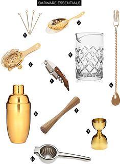 Barware Essentials via A House in the Hills