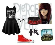 """pierce the veil outfit"" by sasha-sushi ❤ liked on Polyvore featuring Retrò, LE3NO and Ethletic"