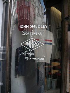 Brook Street Window - John Smedley x Umbro Sportswear