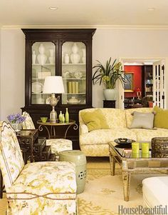 Designer Mary McDonald used youthful colors and traditional furniture to complete this Los Angeles family room. Featured in June 2006.   - HouseBeautiful.com
