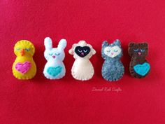 Mini Pocket Critters- PDF Sewing Pattern for Felt Softies Sewing Projects For Kids, Sewing For Kids, Sewing Crafts, Sewing Tips, Sewing Tutorials, Clay Tutorials, Animal Sewing Patterns, Felt Patterns, Sewing Stuffed Animals