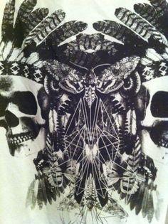 ☮ American Hippie Art ~ Skulls .. Native