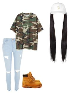 """""""Untitled #168"""" by sulikeymateos on Polyvore featuring October's Very Own, River Island and Timberland"""