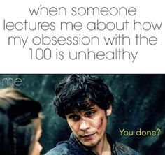 More like obsession with Bob Morley;)