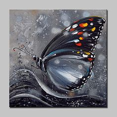 Hand Painted Animal POP Oil Paintings, Modern Realism A Panel To . - Hand Painted Animal POP Oil Paintings, Modern Realism A Panel Canvas Oil Painting Hang-painted For - Butterfly Painting, Butterfly Art, Butterflies, Tableau Pop Art, Hanging Canvas, Animal Paintings, Oil Paintings, Realism Art, Oil Painting Abstract