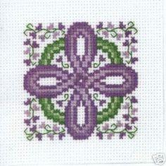 Claddagh Cross Stitch Celtic Lavender Cross Pattern