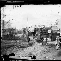 Mayne St,Gulgong in New South Wales looking northeast in 1870.