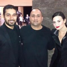 jack.andrade.94: Look who I meet at work … One of my daughters idols Demi Lovato and Wilmer valderrama