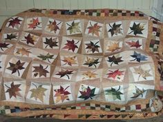 Looking for quilting project inspiration? Check out Scattered Leaves by member Kathy Chip. - via @Craftsy