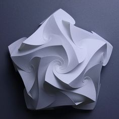 The World's Best Photos of origami and yoshinobumiyamoto Origami And Kirigami, Origami Paper Art, Paper Crafts, Puzzle Lampe, Paper Structure, Paper Architecture, Parametric Architecture, Paper Engineering, Paper Magic
