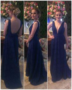 Madrinha de casamento. Vestido madrinha de casamento. Vestido de festa. Vestido azul royal.