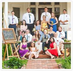 LOVE THIS!!   Color, variety, vontage relaxed feel, and vests, who wouldn't want to be a part of this wedding?!?