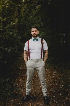 Com/ mens casual wedding attire, casual grooms, hig How To Wear Suspenders, Suspenders Outfit, Wedding Men, Wedding Suits, Boho Wedding, Wedding Ideas, Mens Casual Wedding Attire, Casual Groomsmen Attire, Summer Wedding Outfits