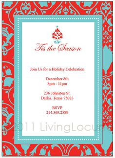 Eat, Drink and be Merry Christmas invitation template (Microsoft ...
