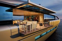 CNB is a new motor superyacht project designed by German Frers for French yard CNB, with an amazing interior designed by Wetzels Brown Partners. Cool Boats, Composite Decking, New Earth, Motor Yacht, German, Yard, Gentleman, Mansions, House Styles