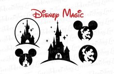 Disney Magic SVG Design for Silhouette and other craft cutters… Disney Diy, Disney Crafts, Disney Fan Art, Disney Love, Disney Magic, Disney Sleeve Tattoos, Disney Tattoos, Stencil Art, Stencils