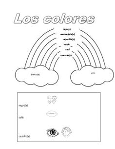 elementary spanish greetings and coloring page them spanish and colors. Black Bedroom Furniture Sets. Home Design Ideas