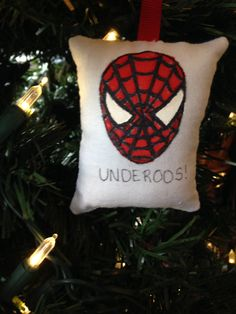 """Spiderman """"Underoos"""" Christmas Ornament Marvel Spidey Super Hero Amazing Web Slinger Friendly Neighborhood by HollyAndHerHobbies on Etsy"""