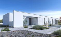 Parterowy 3 - wizualizacja 1 - nowoczesna parterówka z płaskim dachem