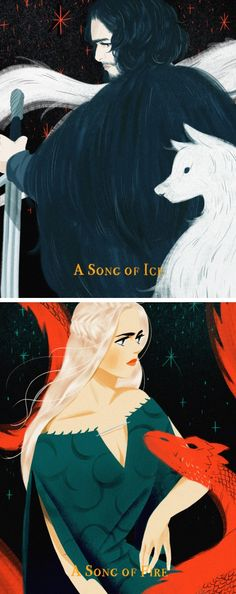 A Song of Ice and Fire by http://mohtz.tumblr.com/