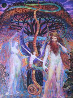 Ernst Fuchs - Adam und Eva vor dem Baum der Erkenntnis