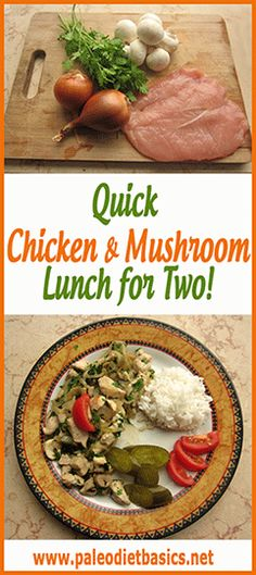 A quick & easy stir fry to whip up with chicken and mushrooms. Yum! http://www.paleodietbasics.net