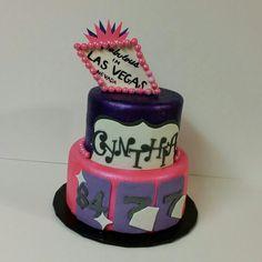 Las Vegas inspired cake