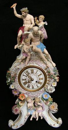 Guaranteed to Be Real Antique 19th Century Meissen Porcelain Clock 26 inches Tal | eBay