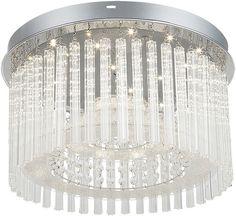 DANIELLE Rábalux - LED stropnica - chróm+sklo+akryl- ø 370mm