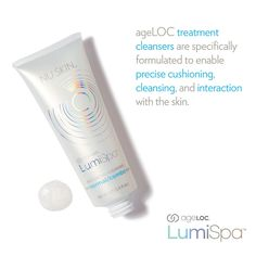 The LumiSpa comes with one cleanser and one treatment head. Choose the cleanser best for your skin's needs: Normal/combo, sensitive, oily, dry, acne. Nu Skin, All Natural Skin Care, Anti Aging Skin Care, Healthy Skin Care, Acne Prone Skin, Good Skin, Skin Care Tips, Galvanic Spa, Soya