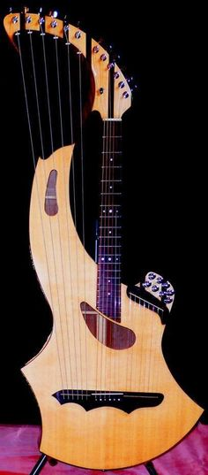 Lardy Fatboys Chordophone of the Day — Seraph Harp Guitar Lardy's Chordophone of the day. Unique Guitars, Custom Guitars, Music Production Equipment, Instruments, Guitar Chords, Acoustic Guitars, Guitar Painting, Learn To Play Guitar, Guitar For Beginners