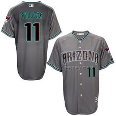 http://www.xjersey.com/diamondbacks-11-aj-pollock-greycapri-new-cool-base-jersey.html DIAMONDBACKS 11 A.J. POLLOCK GREY/CAPRI NEW COOL BASE JERSEY Only 40.68€ , Free Shipping!