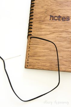 DIY wood and leather notebook