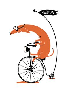 Cycling Sausage by Kayla King for Minted.com
