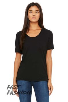 Fast Fashion | Women's Flowy Pocket Tee