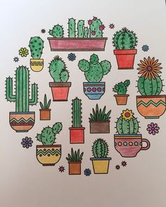 20 Best Succulent & Cactus Doodle Ideas For Bujo Addicts – Crazy Laura Bullet Journal Banner, Bullet Journal Writing, Bullet Journal Aesthetic, Bullet Journal Ideas Pages, Bullet Journal Inspiration, Doodle Drawings, Easy Drawings, Doodle Art, Cactus Doodle