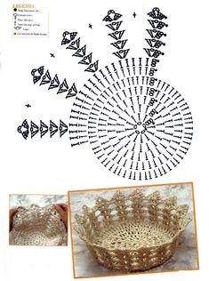 Christmas Crochet Patterns Part 2 - Beautiful Crochet Patterns and Knitting Patterns Crochet Diy, Vase Crochet, Diy Crochet Basket, Beau Crochet, Crochet Dollies, Crochet Gratis, Crochet Basket Pattern, Crochet Motif, Crochet Designs