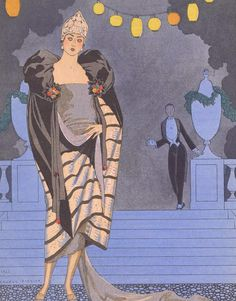 Beautiful George Barbier Art Deco lady.