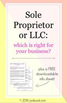 Sole Proprietor or L