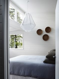 Such a peaceful bedroom.  AUTUMN GREY   the style files