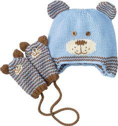 New Ideas for crochet mittens children Baby Hat Knitting Pattern, Baby Hats Knitting, Sweater Knitting Patterns, Knitting For Kids, Crochet For Kids, Crochet Baby, Knitted Hats, Knitted Baby Outfits, Crochet Mittens