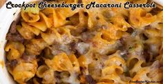 Mac & cheese = ultimate comfort food...Crockpot = ultimate easy cooking. Combine the two for this crockpot cheeseburger macaroni casserole!