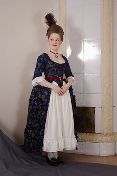 Floral robe à l'Anglaise  18th century dress