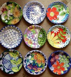 Damariscotta Pottery - small plates handmade and hand painted Ceramic Clay, Ceramic Plates, Decorative Plates, Small Plates, Painted Plates, Plates On Wall, Hand Painted, Pottery Painting, Ceramic Painting