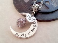 Free Giveaway: Love You to the Moon Necklace for Mother's Day! 22 inch chain with lobster clasp   Enter Here: http://www.giveawaytab.com/mob.php?pageid=126677910716900