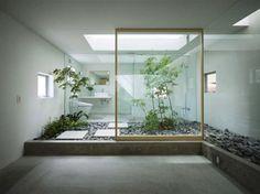 Fresh Bathroom Design with Arabian Night Concept : White Clean Japenese Style Zen Bathroom Decor With Floating Vanity