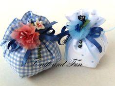 Tutorial sacchetti per confetti DIY, per battesimi, comunioni, matrimoni