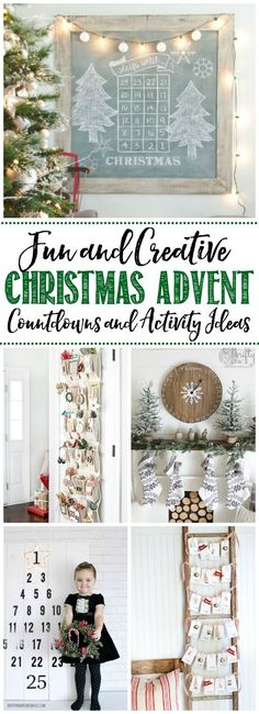 Lots of cute DIY ideas for Christmas activity advent calendars as well as ideas for what activities to do!  If it's too much to do the whole month, just do a 12 days of Christmas countdown.