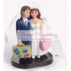 Pareja de Novios Viaje | Detalles de Boda | Detalles de Boda Baratos  Bonita figura de novios en la que los recién casados se van de viaje.