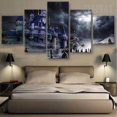 Hogwarts Castle Painting - 5 Piece Canvas